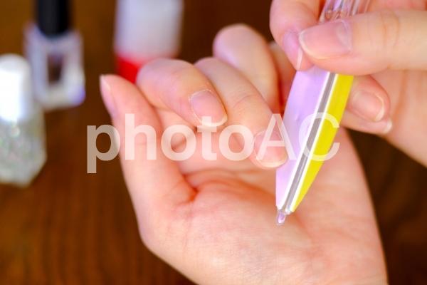 ネイルケア 爪やすりの写真