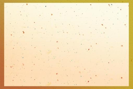 グラデーション金枠 金箔和紙psd ベージュの写真