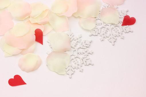 クリスマス クリスマスイメージ イベント 行事 結晶 雪 ハート 花びら