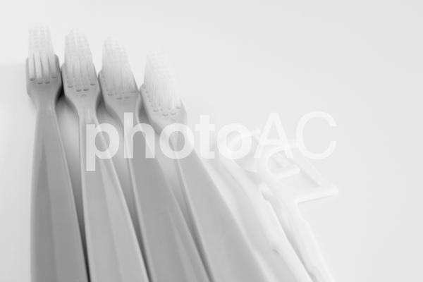 デンタルケア モノクロの写真