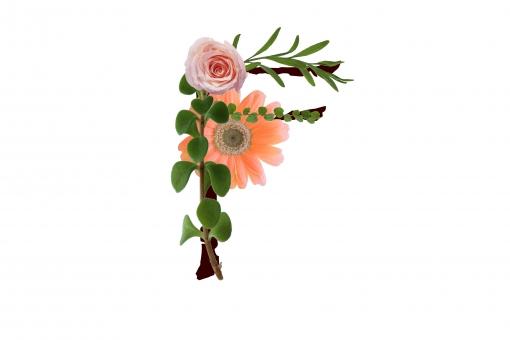 アルファベット ローマ字 英文字 文字 植物 花 ガーベラ バラ 薔薇 グリーン テクスチャ 素材