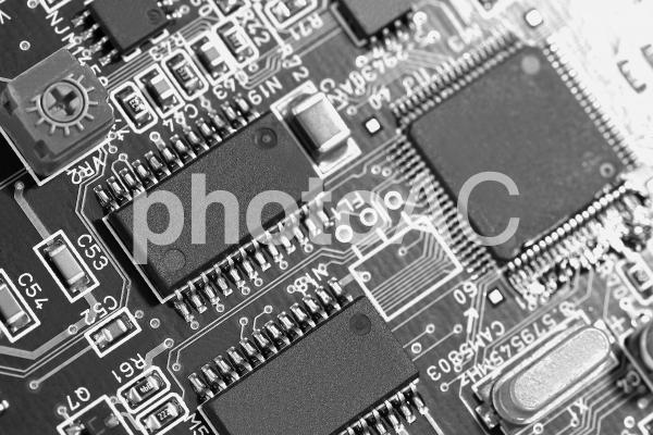 電子基板 電子回路 イメージ素材の写真