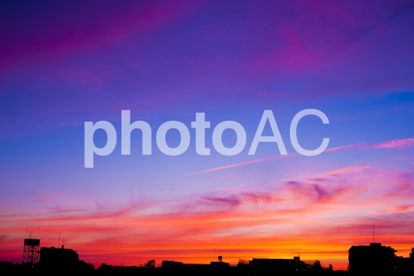 美しい夕焼けの写真