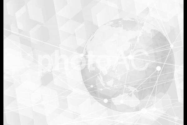 テクノロジーグローバルネットワーク-ホワイトの写真