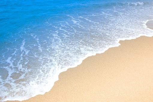 海と砂浜の写真