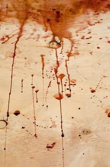 事件 現場 事件現場 犯行現場 殺人  残虐 残忍 凶悪 犯罪 暴力  バイオレンス 殺人事件 ホラー 血 血痕  血こん 血の跡 現場検証 警察 無人  床 証拠 アップ 犯行 サスペンス 残酷 血のり 血糊