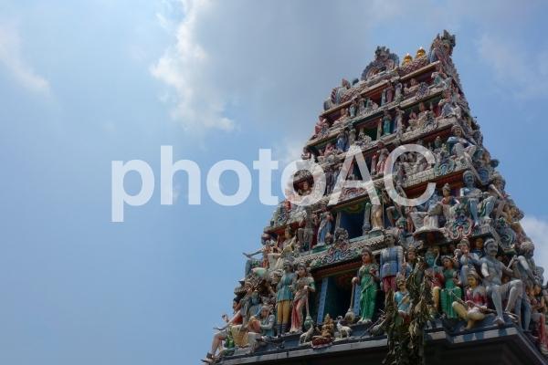 シンガポール チャイナタウン スリマリアマン寺院 お寺の写真