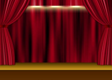 舞台 カーテンの写真