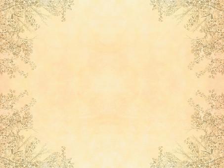 樹木 木 植物 自然 空間 余白 テクスチャ 質感 背景 背景素材 バックグラウンド テキストスペース コピースペース 枠 フレーム 暖かい ナチュラル 満開 葉 枝 枝木 樹枝 生える 高木 立ち木 単色 同系色 複数 たくさん ベージュ シンプル 飾り枠 加工 写真加工