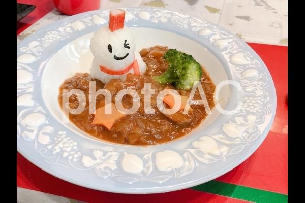クリスマス 子供用ランチの写真