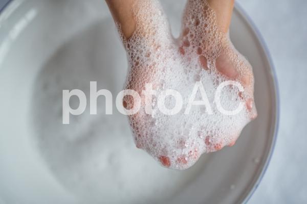 手を洗うの写真