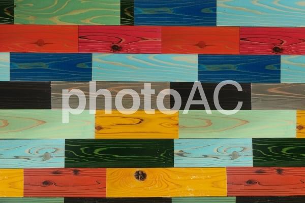カラフルな木目テクスチャ背景素材の写真