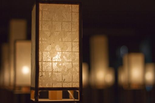 灯り 電気 ともしび 和紙 日本 和 幻想 幻想的