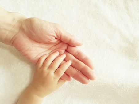 赤ちゃんとママの手2の写真