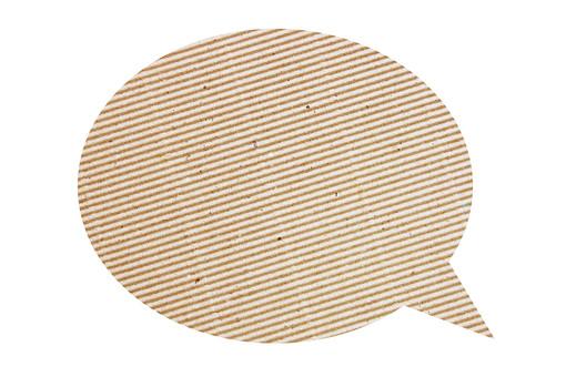 パーツ 模様 かわいい ポイント イベント 切り抜き 白バック 白背景 手作り デザイン アイデア 材料 素材 アート コラージュ 紙 クラフト クラフト紙 吹出し ふきだし ベージュ