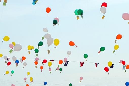 風船飛ばしの写真