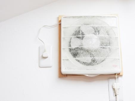 換気扇 キッチン 台所 換気 空気 入れ替え 入れ換え フィルター ファン 回転 コンセント 壁 電化製品