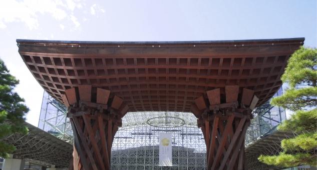 金沢 金沢駅 世界で最も美しい駅 北陸新幹線 太鼓 オブジェ 観光名所 鼓門
