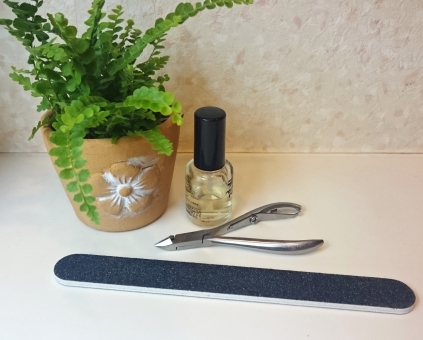 ニッパー型爪切り 爪やすり キューティクルオイル グリーン 鉢植え 美容 化粧品 ネイルケア ネイルサロン ドラッグストア 爪のお手入れ 美しい手