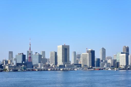 東京のビル街の写真