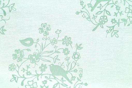 布 織物  生地 綿 木綿 背景 背景素材 バック パターン バックグラウンド テーブルクロス 柄 模様 テクスチャ テクスチャー 素材 壁紙 テキスタイル 布地   ナチュラル  レトロ 花柄 花 植物 葉 装飾 緑色 グリーン