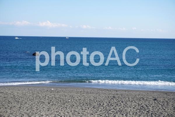 桂浜から太平洋を望むの写真