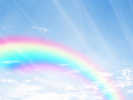 青空と虹16110602の写真