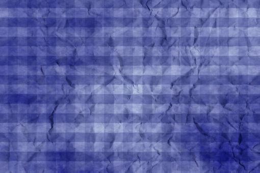和紙 色紙 台紙 紙 ちぢれ ゴワゴワ 凸凹 テクスチャー 背景 背景画像 ファイバー 繊維 しわ くしゃくしゃ チェック ギンガムチェック 格子 格子模様 青 群青 紺色 藍 ブルー ウルトラマリン