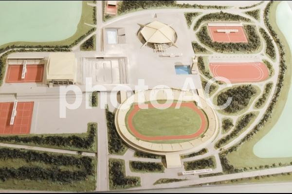 駒沢オリンピック公園の模型の写真