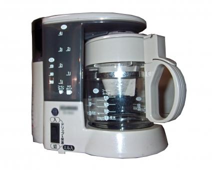 コーヒーメーカー 家電 家電品 コーヒー 珈琲 白抜き 型抜き 道具 器具 飲料 飲み物 ドリンク 風景 景色