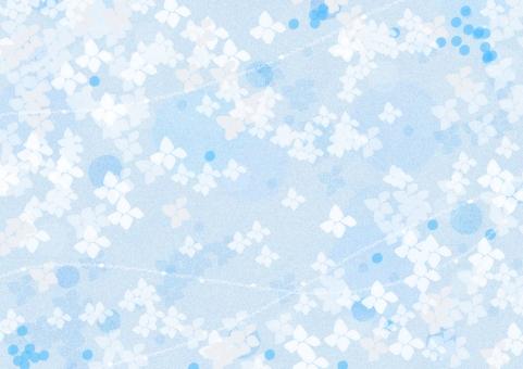 テクスチャ 背景 壁紙 アジサイ 花 梅雨 6月 水色 綺麗 メロディ 爽やか かわいい