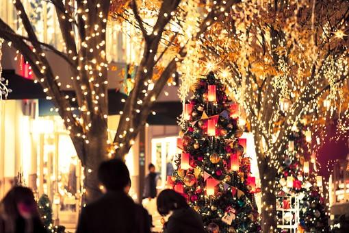 クリスマス X'mas メリークリスマス クリスマスイブ 聖なる夜 聖夜 12月24日 12月25日 12月 冬 真冬 冬季 ウィンター Winter 寒い 綺麗 きれい ロマンチック ステキ 素敵 すてき カップル 恋人 オーナメント 飾り ライトアップ イルミネーション クリスマスツリー