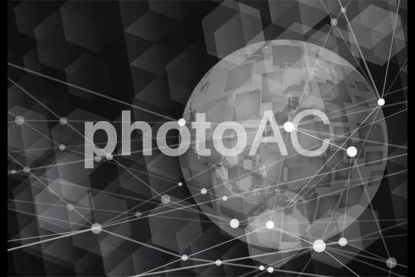 テクノロジーグローバルネットワーク-ブラックの写真