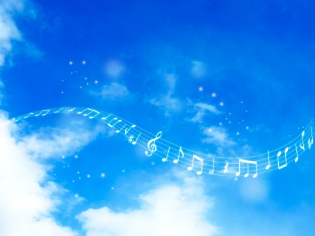 音楽 音符 音楽鑑賞 曲 ミュージック music ト音記号 記号 ハーモニー 音楽会 譜面 楽譜 音楽祭 歌 フレーム 音楽の秋 五線譜 五線 流れる 流線 コンサート 演奏 背景素材 空 青空 雲 くも 春 背景 風景 バックグラウンド 爽やか 青 自然 ナチュラル 天気 大空 スカイブルー ブルー 晴れ エコ 環境 透明感 景色