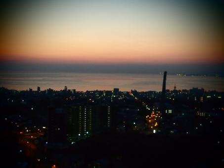 夜景 空 夕焼け 海 景色 トイフォト