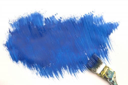 ペンキ 絵具 筆 絵筆 ペイント 塗る 絵 絵画 青 ブルー カラー 色 コピースペース テキストスペース 背景 バック バックグラウンド テクスチャ 素材 背景素材 壁紙 表現 描写 雑 ランダム ラフ 白背景 白バック 芸術 アート diy 色塗り