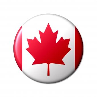 カナダ canada 加 サミット メイプルリーフ旗 北アメリカ メイプル 国旗 国 先進国 g7 世界 シンボル 象徴 丸 旗 フラッグ 北米