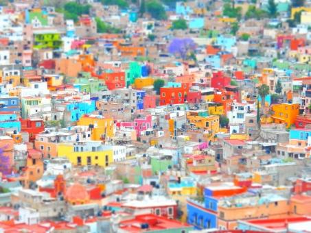 guanajuato メキシコ mexico カラフル 家 ミニチュア グアナファト 海外 レインボー 風景 背景
