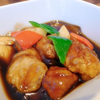 酢豚 中華料理 肉料理 黒酢 美味しい ハッピー