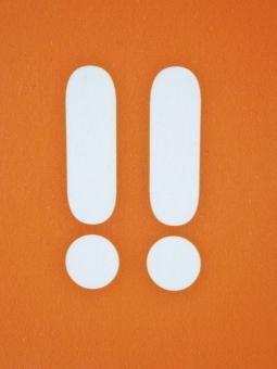 ビックリマーク びっくりマーク びっくり ビックリ 驚く 驚き マーク 注意 看板 ポイント 重要 目立つ 目立たせる タイトル ビジネス イメージ 店舗 お店 オレンジ インパクト 印象 イメージ ! 題名 件名