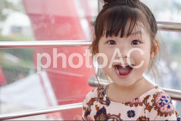 観覧車に乗る子供の写真