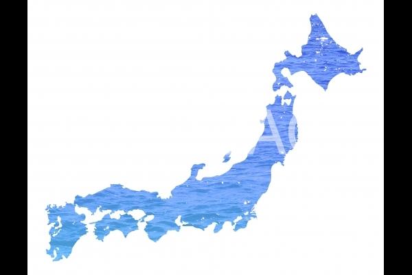グラフィック 日本地図の写真