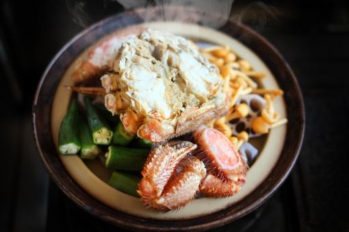 毛ガニ けがに ケガニ 毛蟹 カニ かに 蟹 鍋 なべ ナベ 冬 料理 土鍋