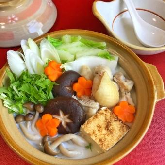 豆乳鍋 管理栄養士の食事の写真