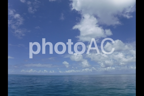 オーストラリア グレートバリアリーフ 海と空 2の写真