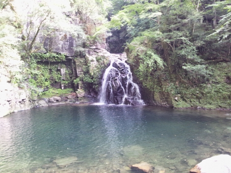 自然 日本 箕面 大阪 透明感 ブルー blue 自然 風景 水 しぶき 素材 青 water 夏 涼しさ 凛
