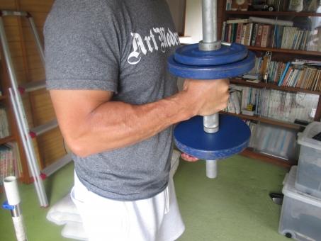 筋トレ ダンベル 男性 部屋 鉄アレイ 筋肉