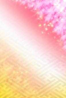年賀状サイズ背景シリーズ 年賀状 年賀ハガキ 年賀はがき 年賀 はがき メッセージ メッセーカード 正月 桜 お正月 正月柄 正月背景 お正月素材 和風 和 光沢 春 入学 卒業 バックグラウンド 賀正 新年 桜吹雪 HAPPY NEW  YEAR happy new yeare