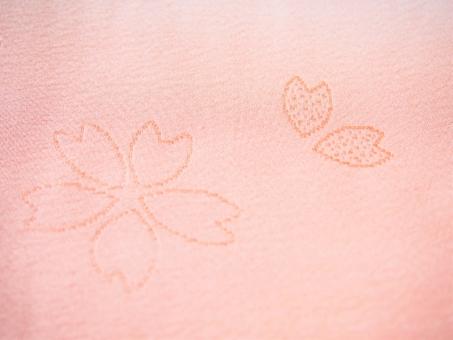 着物 長襦袢 長じゅばん 和柄 和装 古典柄 花柄 テクスチャ 背景 伝統 日本文化 伝統文化 桜 さくら サクラ ハート 正絹 絹 絹織物 織物