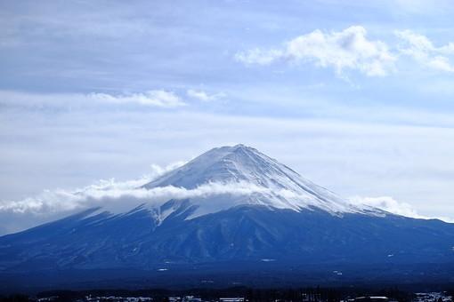 河口湖と富士山9の写真
